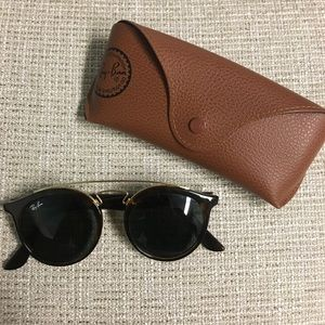 Ray-bans (brown and gold) with case